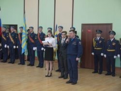 Прошла присяга кадетов нашей школы в ЧВВАКУШ