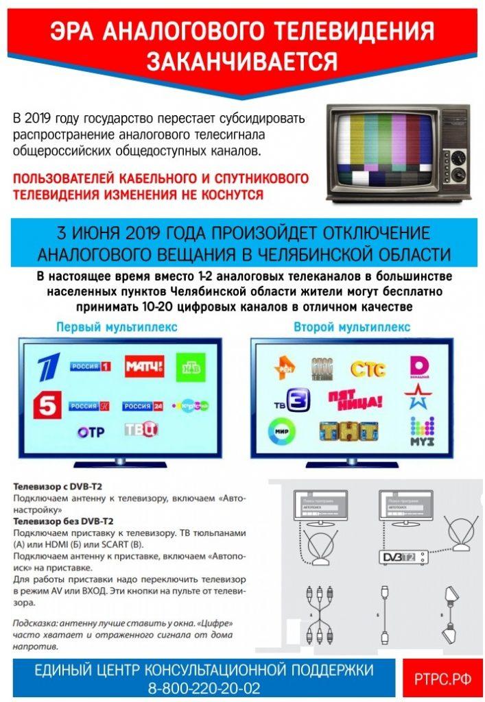 Об отключении аналогового телевидения и переходе на цифровое телевизионное вещание