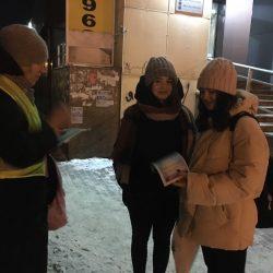 На Сахарова перед зимними каникулами напомнили о правилах безопасного поведения