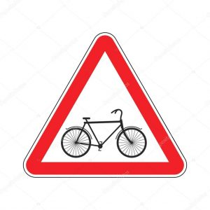 attention-cyclist-bicycle-on-red