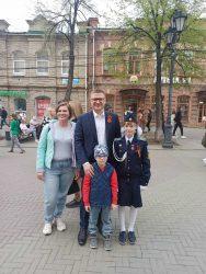 Наши кадеты с Макеева приняли участие в праздновании Дня Победы