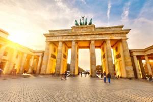 Бранденбургские ворота в свете осеннего солнца, Берлин